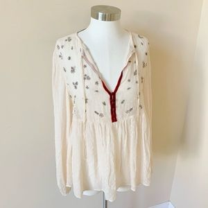 Zara woman beaded dobby chiffon top #6154